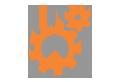xưởng in logo cao cấp - icon máy móc