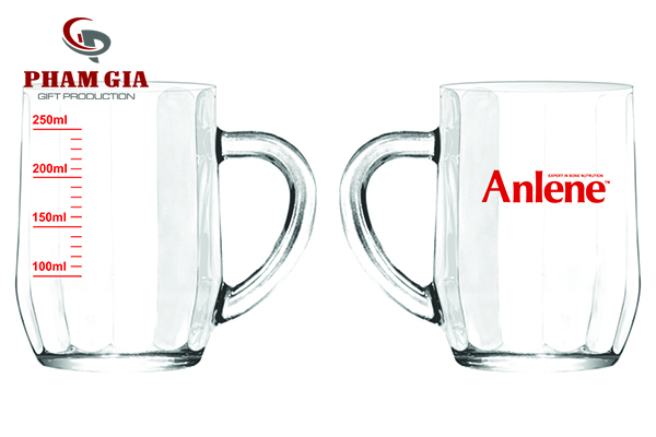 in logo lên ly thủy tinh anlene